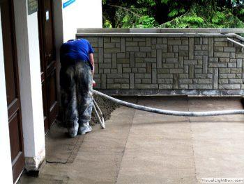 Ciąg dalszy prac remontowych schodów do kościoła 9