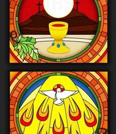 Kolejna praca remontowa za nami … Witraże w prezbiterium 14